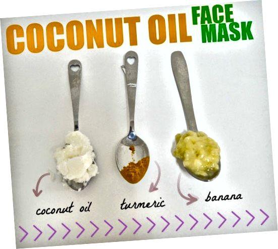 Ce masque facial à l'huile de noix de coco et au curcuma de banane combat l'acné et hydrate la peau.