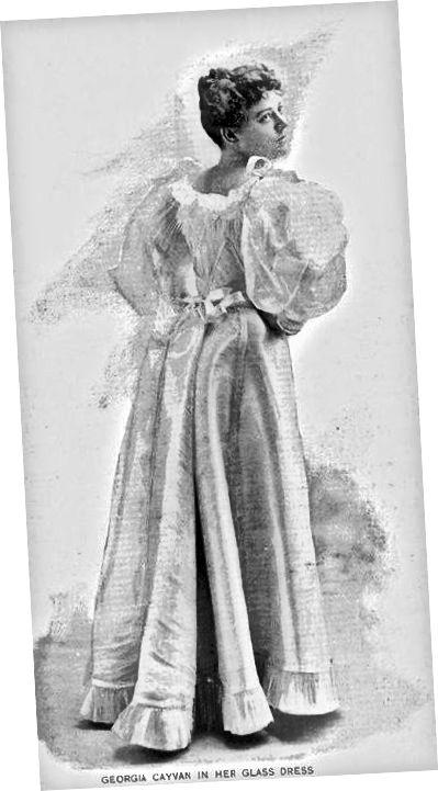 Šaty s rukávy nohou-o-skopové, circa 1893.