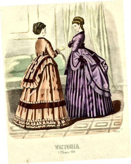 Módní deska 1870s - upozornění basques