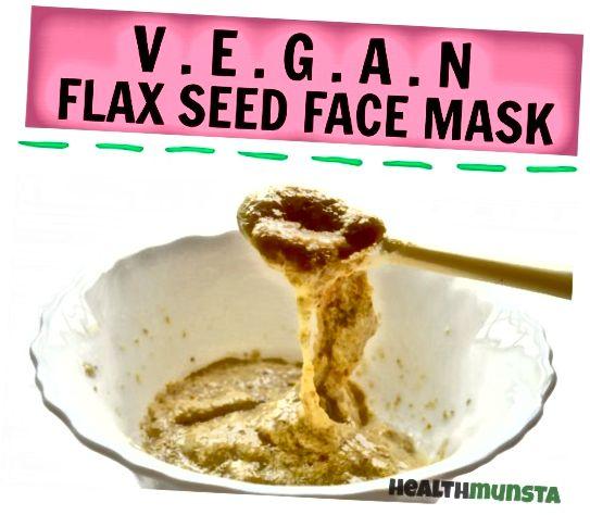 Tato lněná semínková maska je v podstatě náhradou za bílou obličejovou masku. Pomáhá napnout a tónovat pokožku a vy byste ani nevěřili, když říkám, že to voní úžasně!