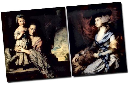 1700 년대의 세련된 여성들은 블랙 리본 초커를 착용했습니다.