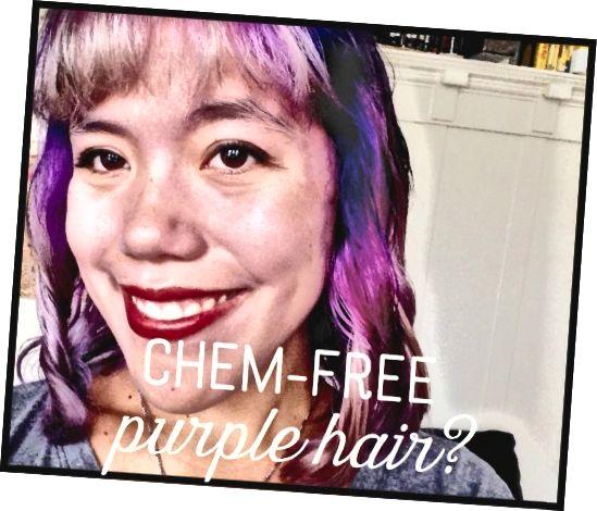 بیاموزید که چگونه موهای خود را به روش طبیعی بنفش رنگ کنید و از مواد شیمیایی خشن پرش کنید.