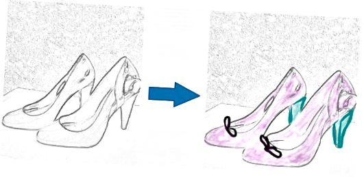 पेंसिल स्केच से अपने जूते को संशोधित करें