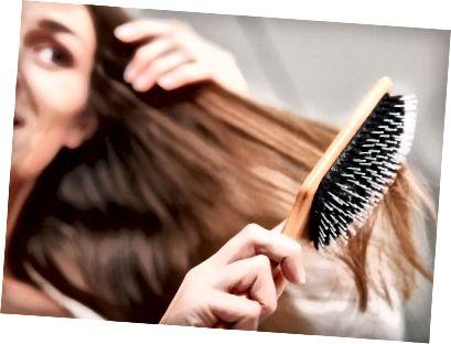 Prepričajte se, da so vaši lasje suhi.