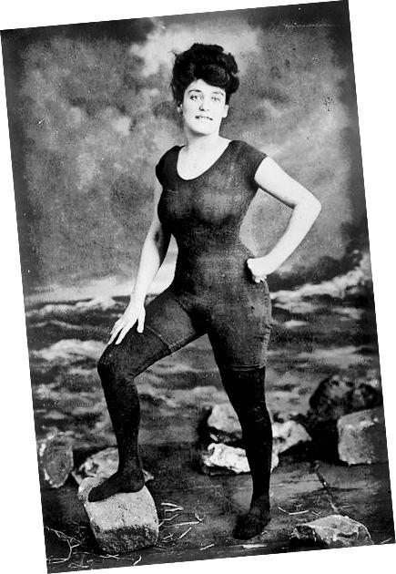 Η Annette Kellerman στο κοστούμι παραγάδι της