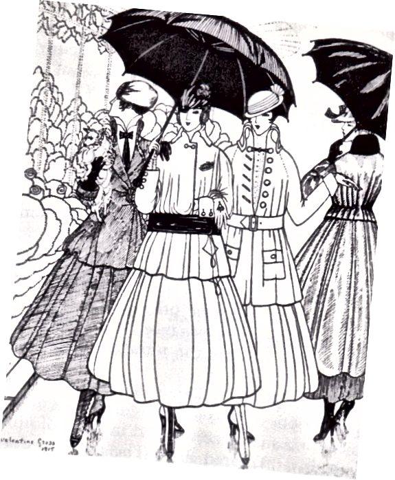 صفحه مد 1915 از La Gazette du Bon Ton.