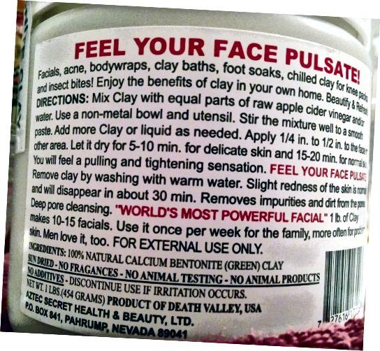 Састојци глинених маски: Осетите свој пулс за лице.