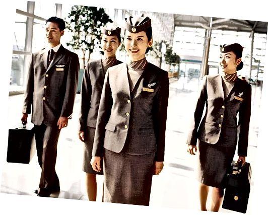 Asiana Airline însoțitori de zbor bărbați și femei