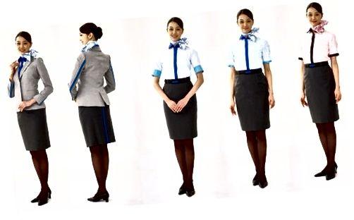 Noua uniformă de însoțitor de zbor ANA, care a fost introdusă pe 24 aprilie 2014