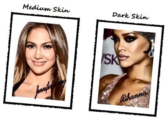 Promi-Make-up-Tipps: So wenden Sie Strobing Highlighter an (Jennifer Lopez und Rihanna