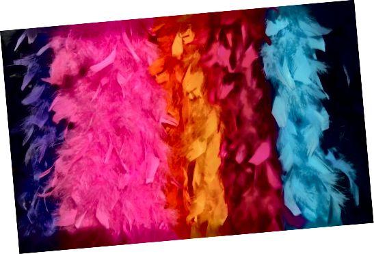 Feather boas 70-yillarda qiziqarli moda aksessuari edi!