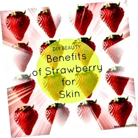 Aardbeien zitten vol met belangrijke fruitzuren, waaronder AHA's die verbazingwekkende schoonheidsvoordelen voor de huid bevatten.