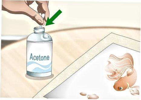 Aseton yoki peroksid bilan qog'ozdan siyohni olib tashlash