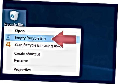 Windows-dagi to'qimalarni yo'q qilish