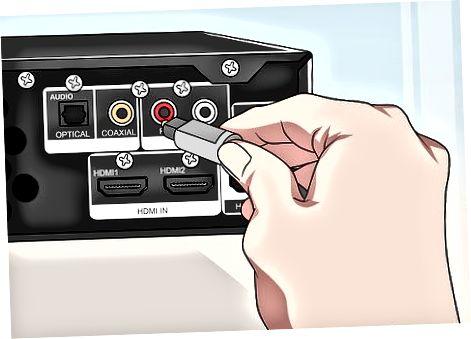 Optik audio kabeldan foydalanish
