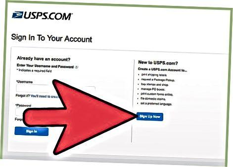 USPS Online hisobini yaratish