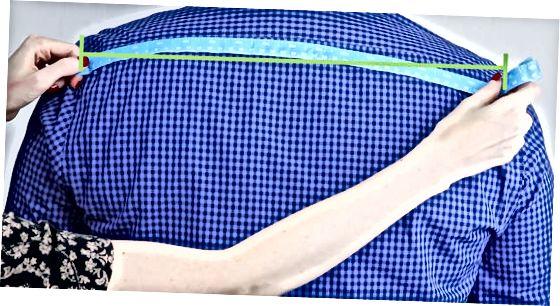 Pirmā metode: izmēriet muguras (standarta) pleca platumu