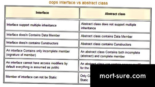 Unterschied zwischen abstrakter Klasse und Schnittstelle in C #.