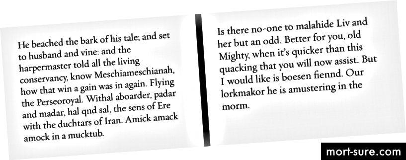 Olen ausalt kaotanud oma märkuse, milline lõik on mis; Ma tõesti ei tea, kumb on Joyce ja kumb on Markovi loodud.
