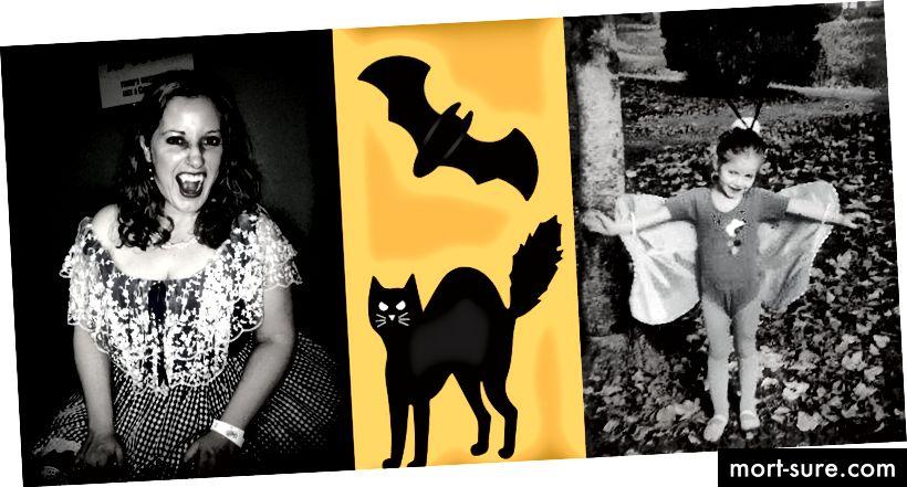 Снимки от доскорошните Хелоуин! Моят мъгляв опит да дам на този блог тема на Хелоуин и да илюстрирам как се чувстват егото и съпричастността към мен. :)