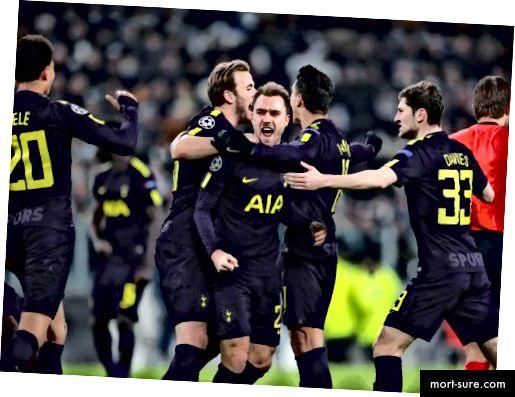 Tottenham jõudis esimese jalaga 0–2 alla tagasi