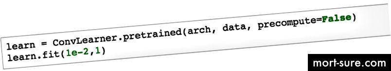 1. Захранване на NN-арка. и данни. 2. Отидете да научите