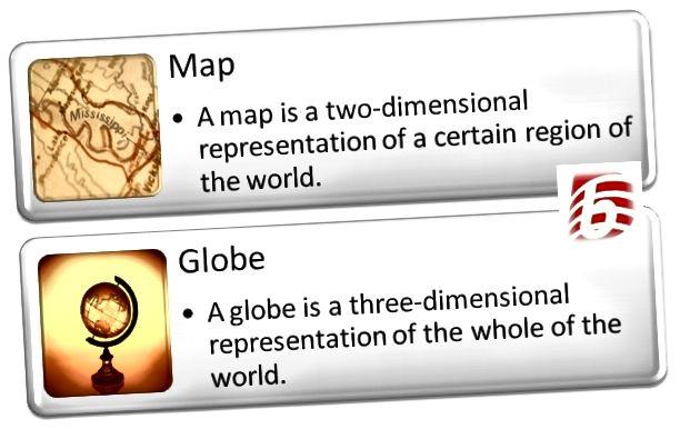 Разлика между картата и глобуса