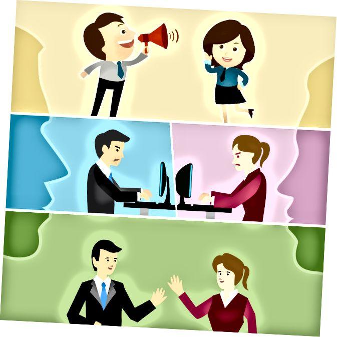 الفرق الرئيسي - الاتصالات مقابل الاتصالات الجماهيرية