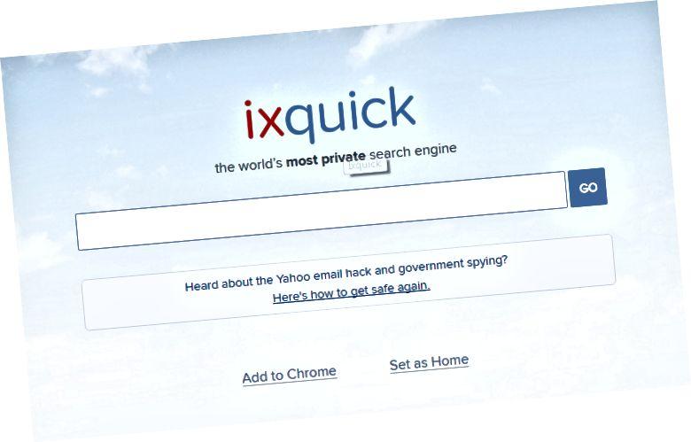 Atšķirība starp Ixquick Duckduckgo un Startpage