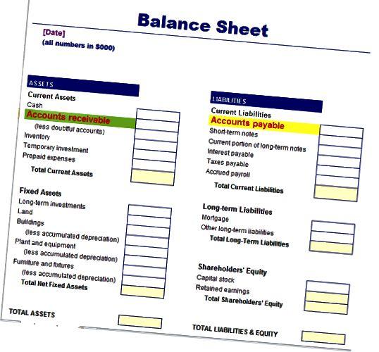 Эсептер баланста кредитордук жана дебитордук