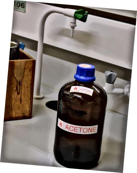 Rozdíl mezi acetonem a metylovanými lihovinami