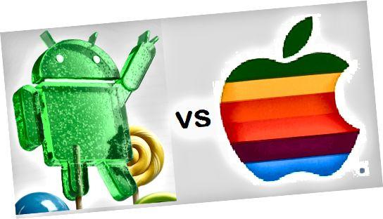Διαφορά μεταξύ Android 5.0 Lollipop και iOS 8.1