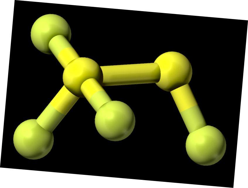 Oltingugurt geksafloridi va oltingugurtli tetraflorid o'rtasidagi farq