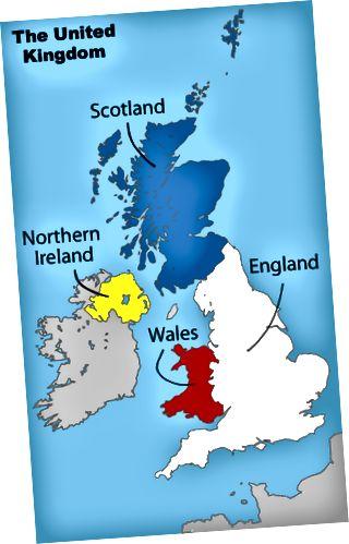 Разлика между Великобритания и Великобритания