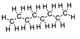 Alifatické vs aromatické uhlovodíky - přímé řetězy