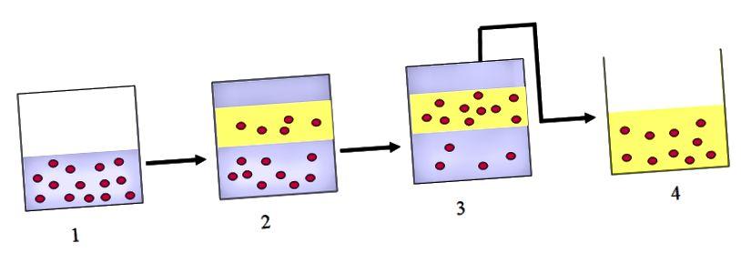 Ënnerscheed tëscht Destillatioun an Extraktioun-Extraktiounsdiagramm