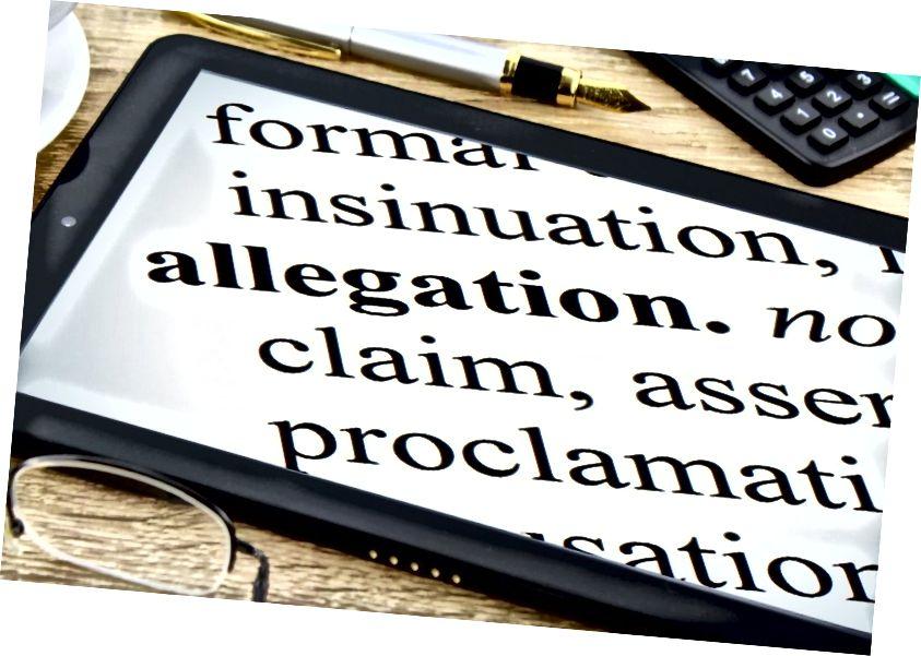 Pagrindinis skirtumas - kaltinimas prieš įtarimą