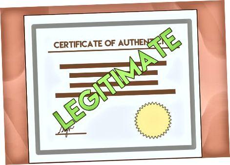 Ehete autentsussertifikaadi saamine
