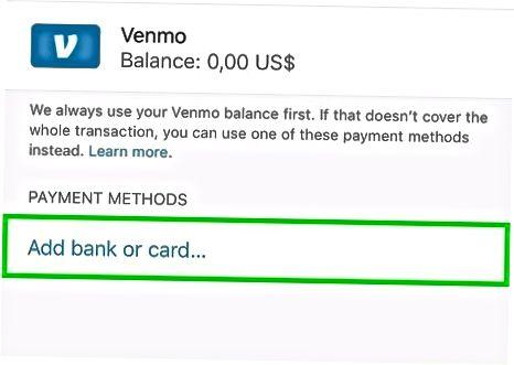 Venmo мобильді қосымшасын пайдалану