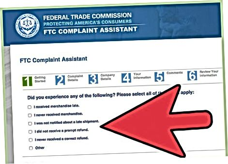 Federal savdo komissiyasiga hisobot berish