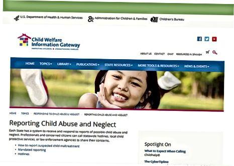 Припрема за прављење извештаја за дечије заштитне службе