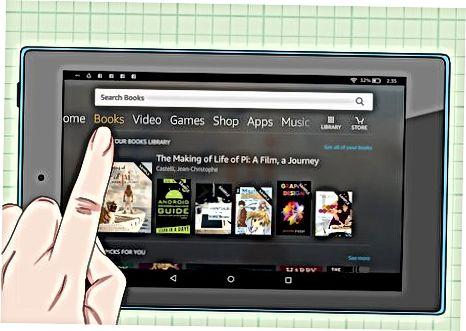 Archivácia kníh na dotykovej obrazovke Kindle