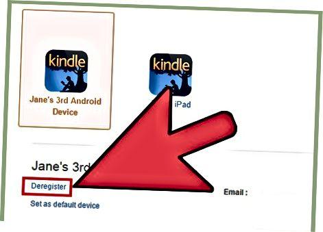 Zrušenie registrácie vášho Kindle z Amazonu
