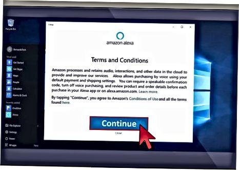 Používanie aplikácie Alexa v systéme Windows 10