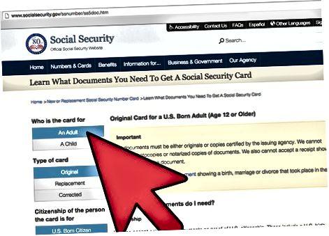 Sotsiaalkindlustuse numbri (SSN) hankimine