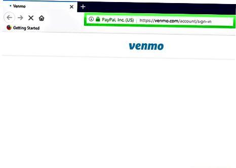 Venmo веб-интерфейсін пайдалану