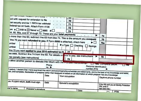 Sizning IRS 1040 shaklingizni tugatish