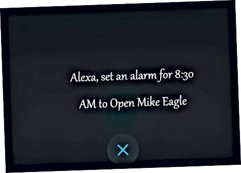 Nastavenie alarmov pomocou hlasových príkazov