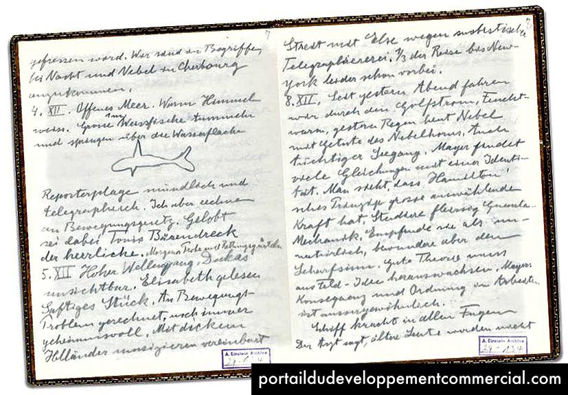Le journal de voyage d'Albert Einstein aux États-Unis a enregistré ses expériences à l'étranger de novembre 1930 à juin 1931. (Photo: Université hébraïque de Jérusalem)