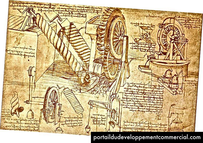 Plus de 7 000 pages de dessins, d'idées et d'inspirations naturelles de Léonard de Vinci ont été préservées. (Photo: La British Library)